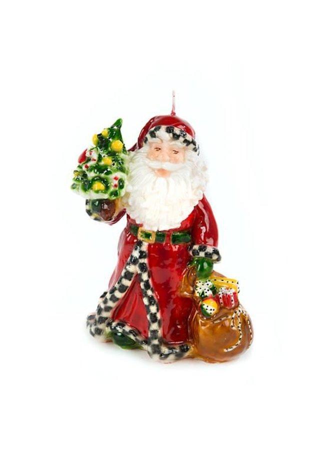 Night Before Christmas Santa Candle