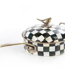 MacKenzie-Childs Courtly Check Enamel 3 Qt. Saute Pan