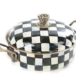 MacKenzie-Childs Courtly Check Enamel 3 Quart Casserole