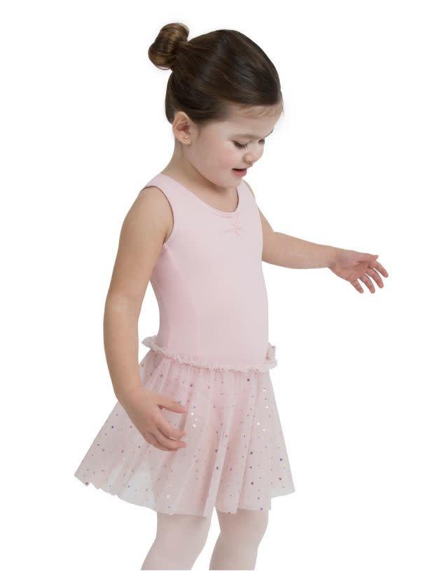 Capezio 11532c Glitter rose tank dress