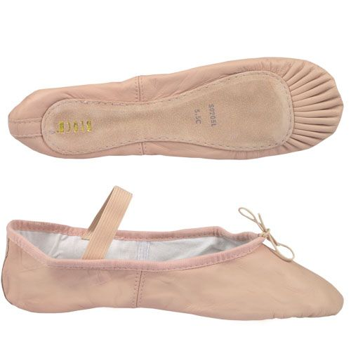 Bloch/Mirella Bloch Leather Full Sole Ballet Slippers - Adult