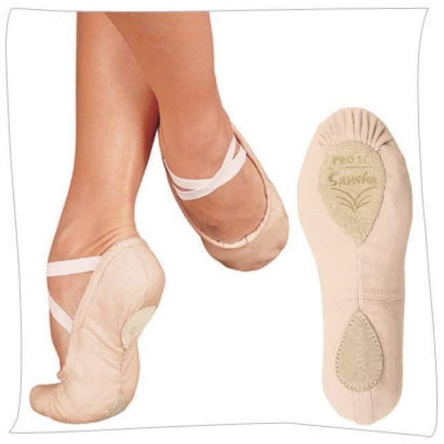 SANSHA Pro 1 Canvas Ballet Slipper,Flesh,6 N 4 N US Womens