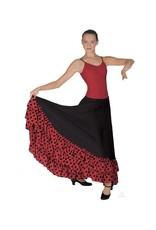 Eurotard Eurotard Flamenco Skirt w/ Dotted Ruffle - Adult