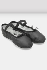 Bloch/Mirella Bloch Black Leather Full Sole Ballet Slippers - Child