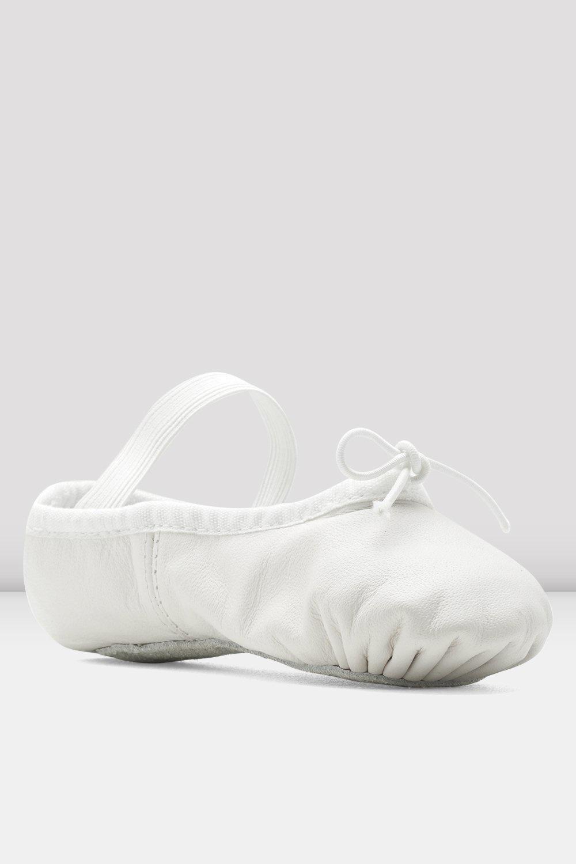 Bloch/Mirella Bloch White Leather Full Sole Ballet Slippers - Child