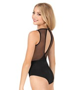 Bodywrappers Bodywrappers Power Mesh Slit Back Leotard - Child
