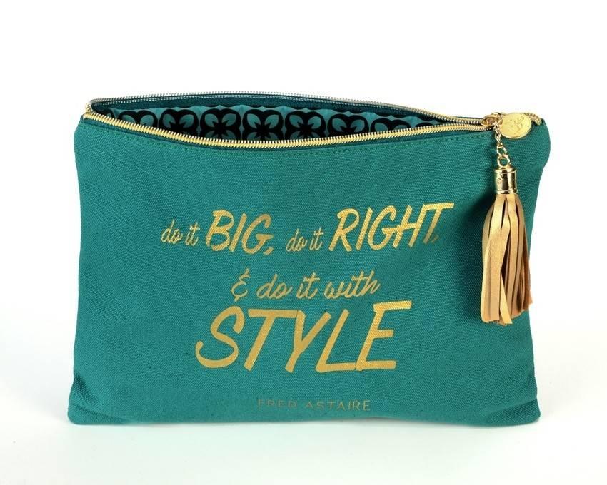 B Plus Printworks B Plus Printworks Canvas Cosmetic Bag - Fred Astaire