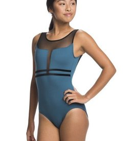 Ainsliewear Margot with Mesh in Teal Leotard - Adult