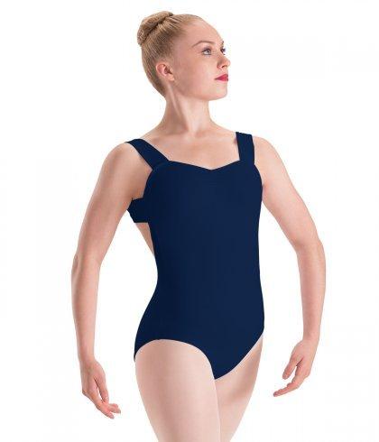 Motionwear Motionwear Pinch Front X-Back Wide Strap Leotard - Adult