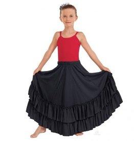 Eurotard Eurotard Solid Double Ruffle Flamenco Skirt - Child