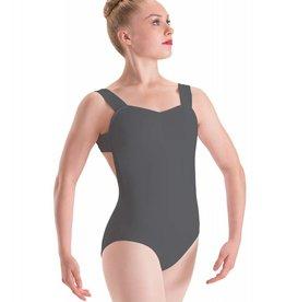 Motionwear Pinch-Front X-Back Wide-Strap Leotard - Child
