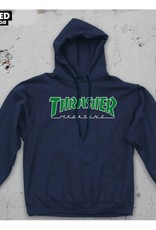 thrasher thrasher outlined hoodie