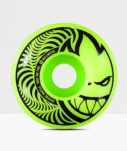 spitfire sf 99 hypno swirl zombie green 53mm wheels
