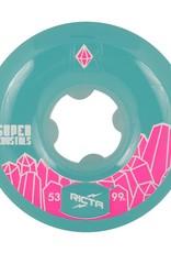 ricta 53mm super crystals teal 99a wheels
