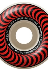 spitfire sf f4 99d classic red 51mm wheels