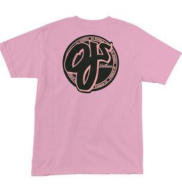 oj wheels oj pink logo tee