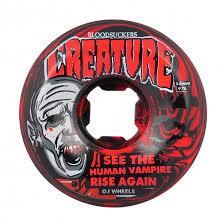 oj wheels 56mm bloodsuckers red black swirl 97a wheels