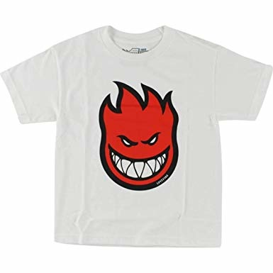 spitfire sf youth bighead fill white red tee