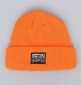creature long shoreman saftey orange support beanie