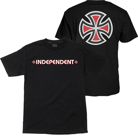 independent youth bar cross ss tee