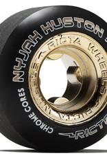 ricta 52mm nyjah huston chrome core black gold slim 99a wheels