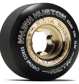 ricta 53mm nyjah huston chrome core black gold slim 99a wheels