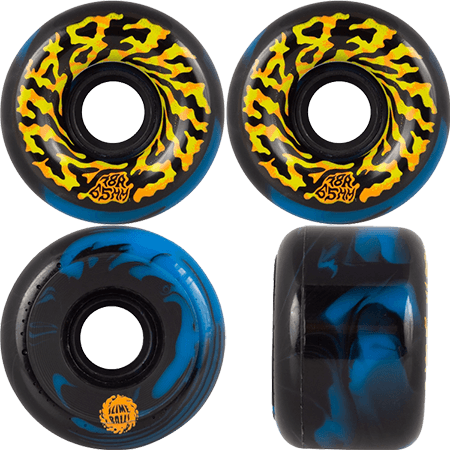slime balls 65mm swirly black blue swirl 78a wheels