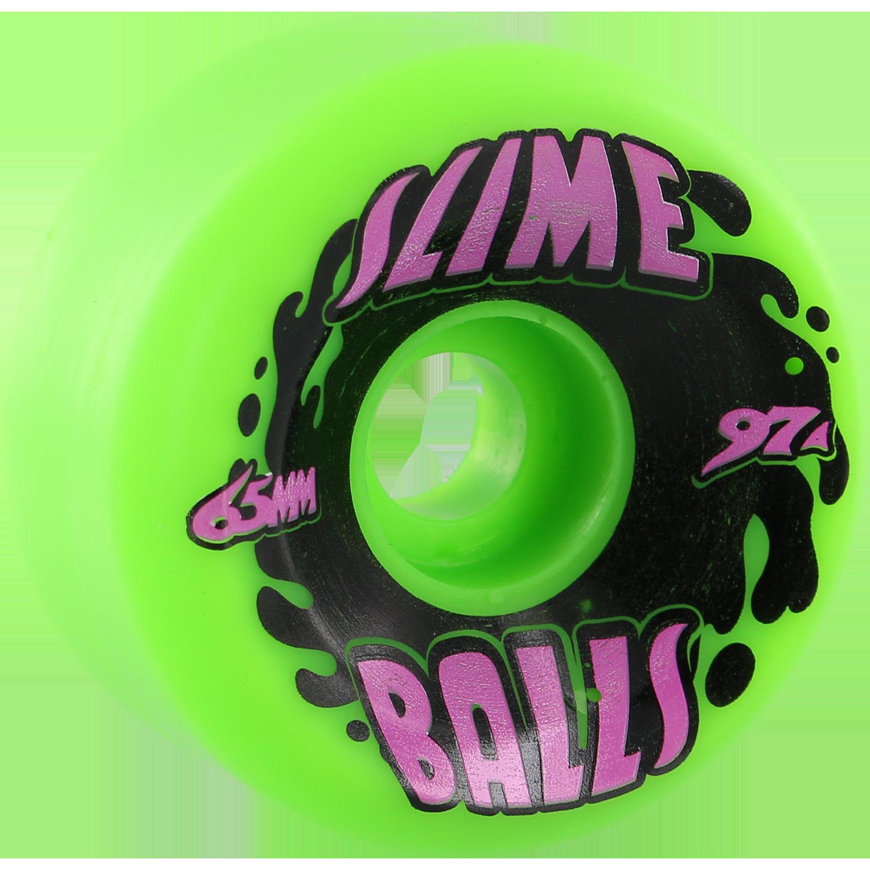 slime balls 65mm splat big balls neon green 97a wheels
