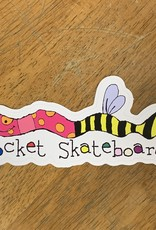 socket skateboards socket wormbee 7in sticker