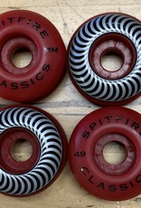 spitfire sf red 49mm classic wheels