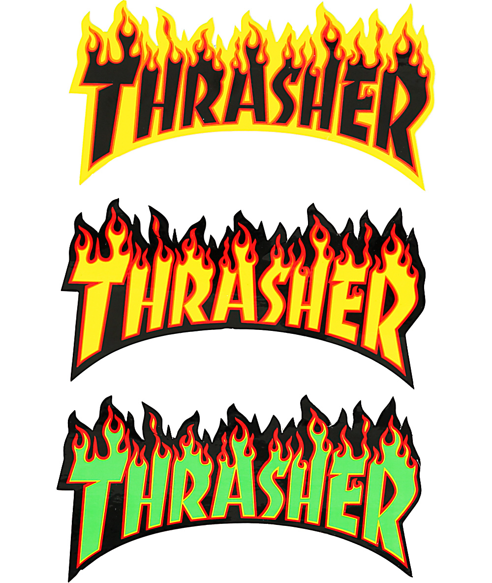 thrasher thrasher flame logo large 10inch sticker