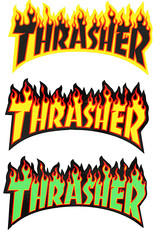 thrasher thrasher flame logo medium 6inch sticker