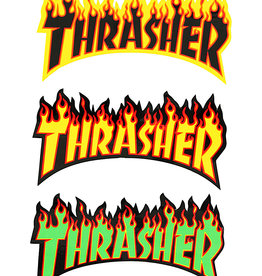 thrasher thrasher flame logo medium 6inch sticker