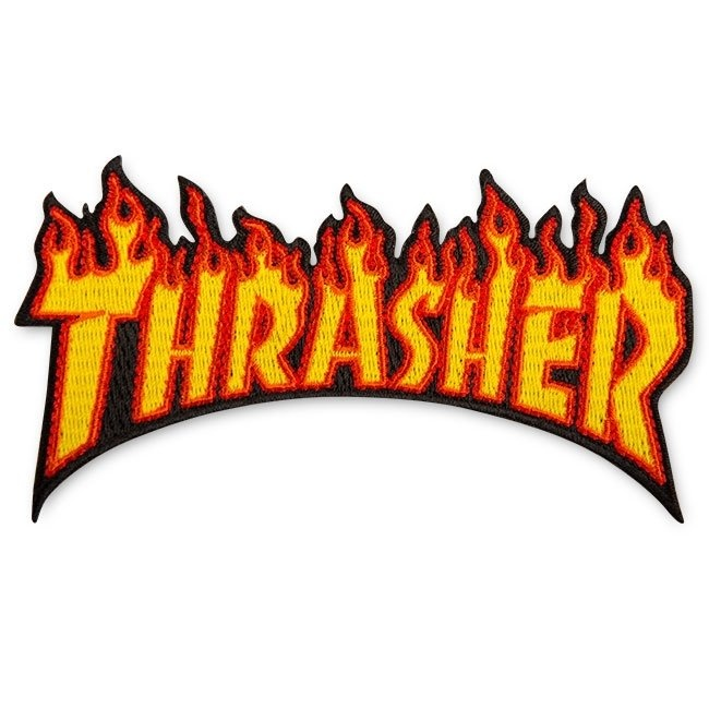 thrasher thrasher flame 4.5inch patch