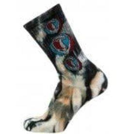 psockadelic mush head tie-dye psock sock