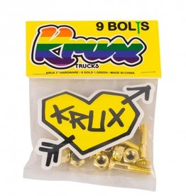 krux krux krome phillips 1in gold w/ green hardware