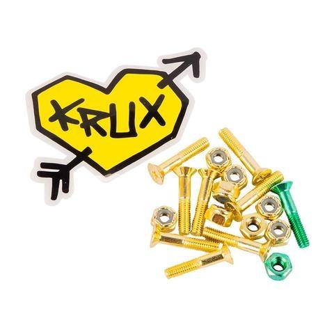 krux krux krome phillips 1in gold w/ green hardware