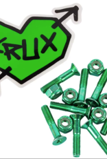 krux krux krome phillips 1in green w/ gold hardware