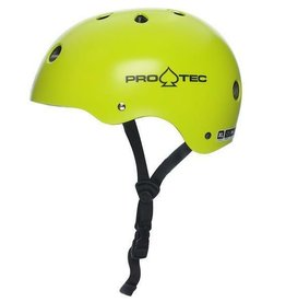 pro tec pro tec classic rental neon yellow helmet