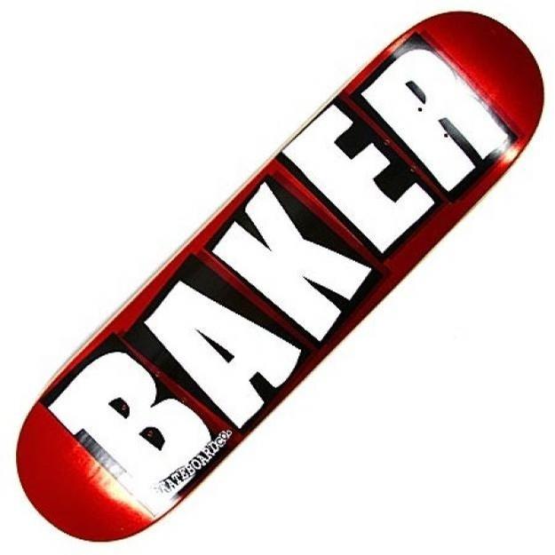 baker brand logo red foil 8.0 deck