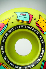 spitfire f4 99 skate like a girl glow radials 53mm wheels