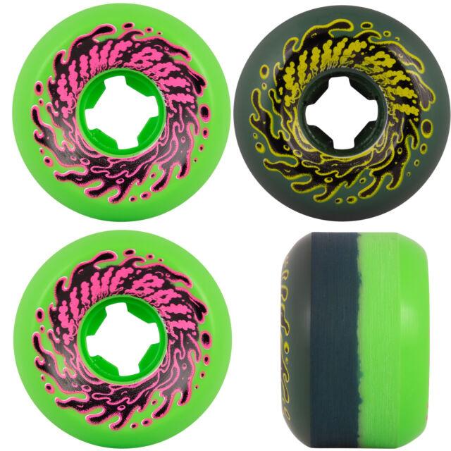 slime balls 53mm double take vomit mini green black 97a wheels