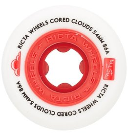 ricta 54mm cored clouds red 86a wheels