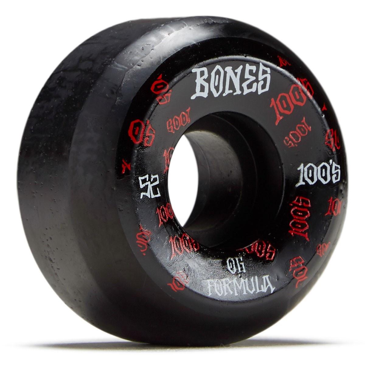 bones bones 100s v5 52mm black wheels