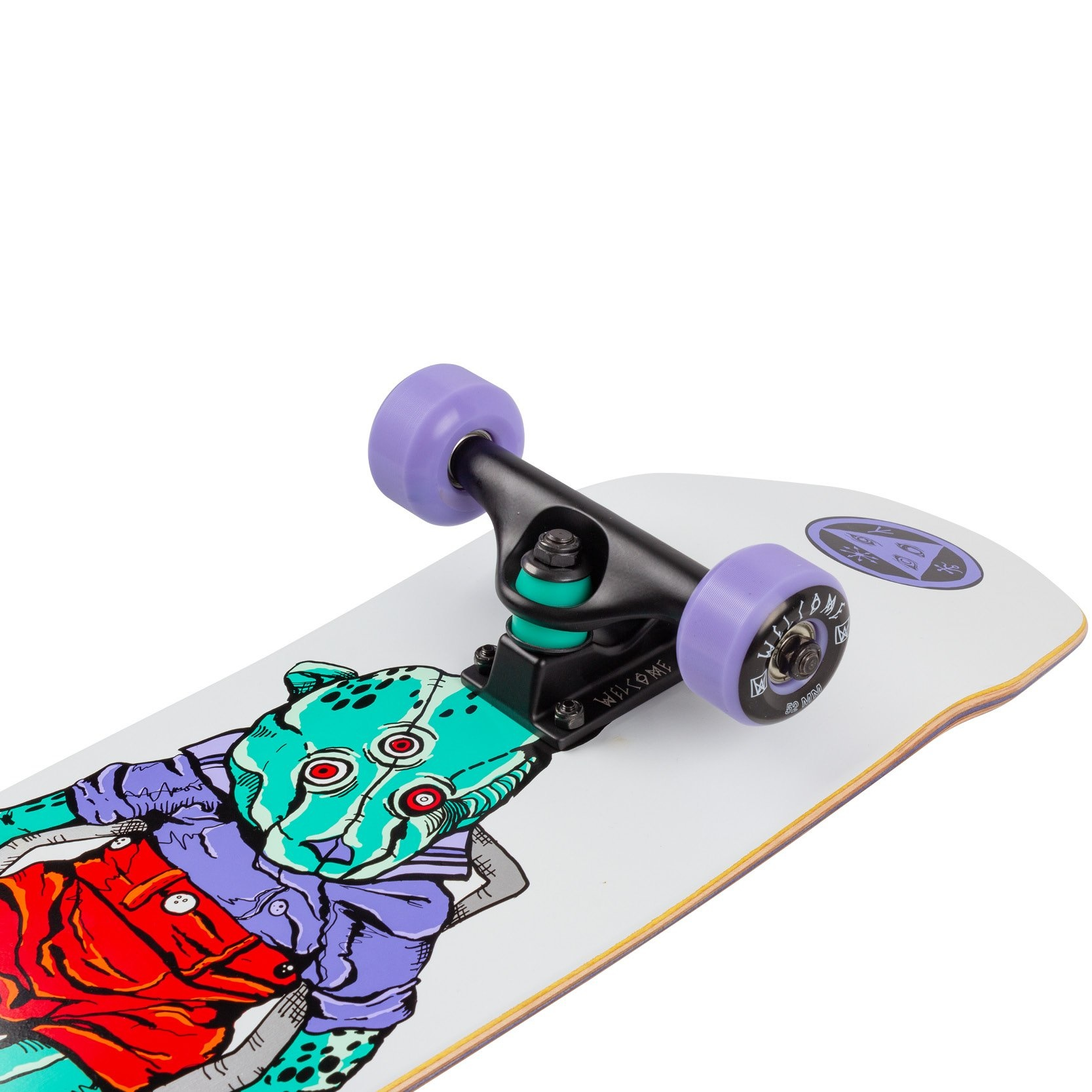 welcome skateboards teddy white 7.75 complete