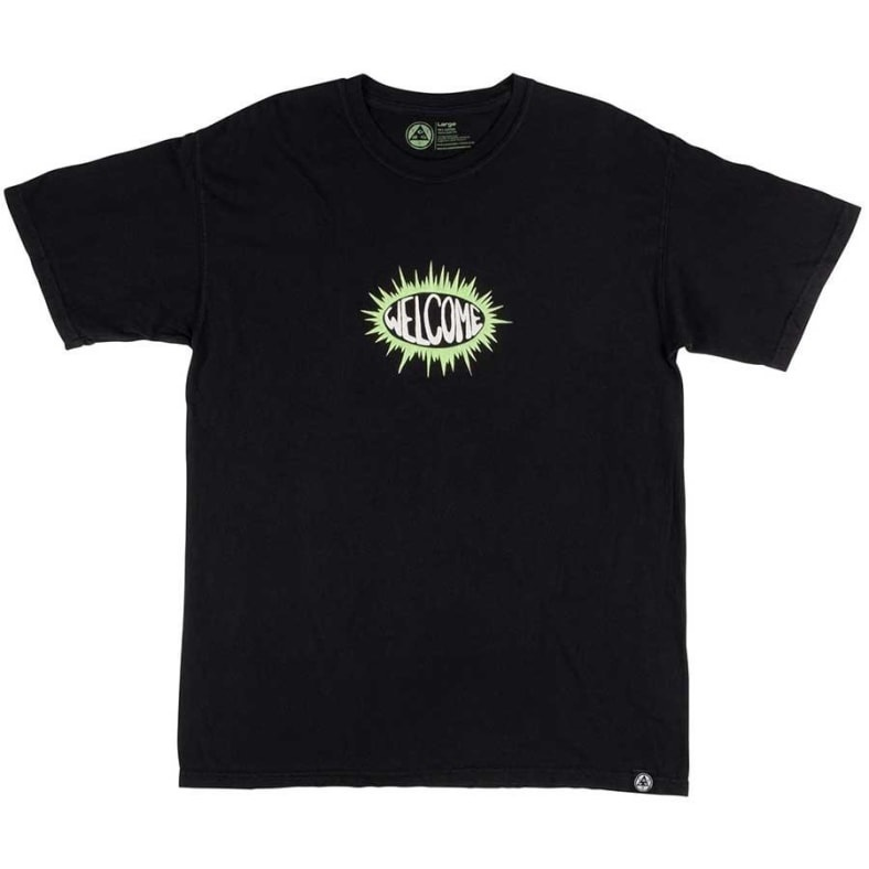 welcome skateboards welcome burst garmet dyed tee