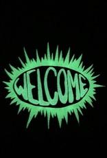 welcome skateboards welcome burst garmet dyed tee