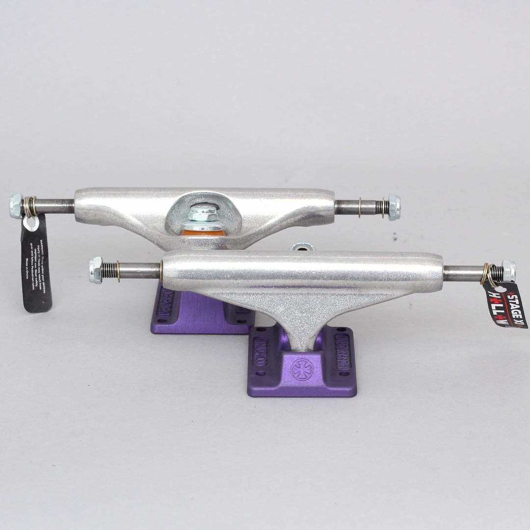 independent 144 hollow silver ano purple standard truck
