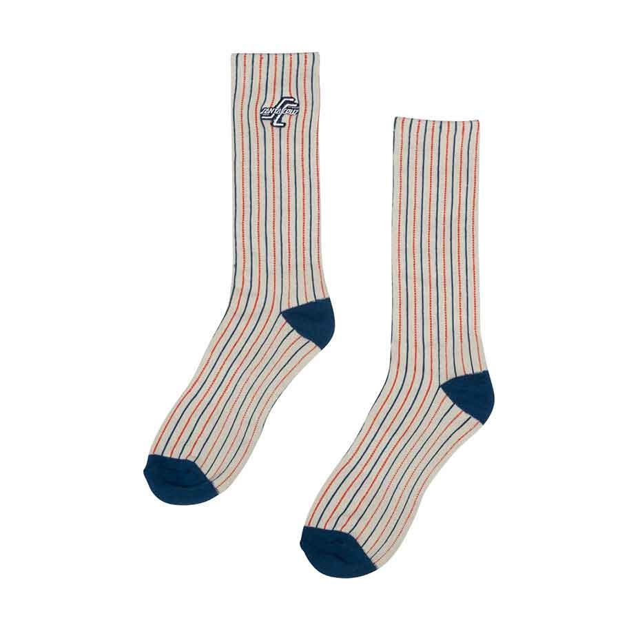 santa cruz og striped crew socks grey