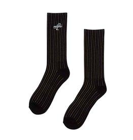 santa cruz og striped crew socks black